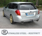 Catback výfuk Simons Subaru Legacy / Outback kombi 2.0/2.5 (04-09)