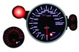 Přídavný budík Depo Racing 95mm - rychloměr s indikátorem max. rychlosti a možností měření pomocí GPS