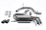 Catback výfuk Milltek VW Golf 5 GTi ED30 2.0 TFSI 230PS (06-09) - verze bez rezonátoru - koncovka černá (homologace)