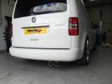 Particulate filter back výfuk Milltek VW Caddy 2K 2.0TDi 140PS 2WD manual/DSG (03-) - verze s rezonátorem - koncovka leštěná