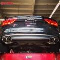 Catback výfuk Milltek Audi S7 Sportback 4.0 TFSI Quattro S tronic (12-) - verze s rezonátorem bez klapek - koncovky titanové (homologace) Milltek Sport