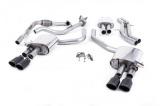 Catback výfuk Milltek Audi S5 B9 3.0 TFSI V6 Sportback bez sport. difer., s výzt./bez výzt. (17-) - verze s rezonátorem - koncovky černé Oval (homologace)
