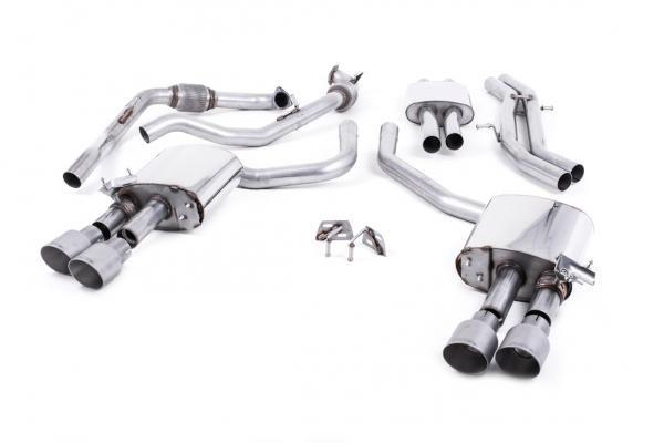 Catback výfuk Milltek Audi S5 B9 3.0 TFSI V6 Sportback bez sport. difer., s výzt./bez výzt. (17-) - verze s rezonátorem - koncovky titanové GT100 (homologace) Milltek Sport