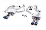 Catback výfuk Milltek Audi S5 B9 3.0 TFSI V6 Sportback bez sport. difer., s výzt./bez výzt. (17-) - verze s rezonátorem - koncovky titanové modré GT90 (homologace)