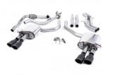Catback výfuk Milltek Audi S5 B9 3.0 TFSI V6 Sportback sport. difer, bez výzt. (17-) - verze bez rezonátoru - koncovky černé Oval