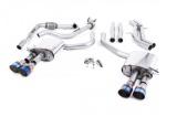 Catback výfuk Milltek Audi S5 B9 3.0 TFSI V6 Sportback sport. difer, bez výzt. (17-) - verze bez rezonátoru - koncovky titanové modré