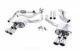 Catback výfuk Milltek Audi S5 B9 3.0 TFSI V6 Sportback sport. difer, bez výzt. (17-) - verze bez rezonátoru - koncovky leštěné Oval