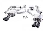Catback výfuk Milltek Audi S5 B9 3.0 TFSI V6 Sportback sport. difer, bez výzt. (17-) - verze s rezonátorem - koncovky černé Oval (homologace)