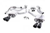 Catback výfuk Milltek Audi S5 B9 3.0 TFSI V6 Sportback sport. difer, bez výzt. (17-) - verze s rezonátorem - koncovky černé (homologace)