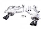 Catback výfuk Milltek Audi S5 B9 3.0 TFSI V6 Coupe sport. difer. (17-) - verze bez rezonátoru - koncovky černé Oval