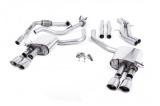 Catback výfuk Milltek Audi S5 B9 3.0 TFSI V6 Coupe sport. difer. (17-) - verze bez rezonátoru - koncovky leštěné Oval
