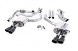 Catback výfuk Milltek Audi S5 B9 3.0 TFSI V6 Coupe/Cabrio bez sport. difer. (17-) - verze bez rezonátoru - koncovky černé Oval