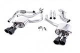 Catback výfuk Milltek Audi S5 B9 3.0 TFSI V6 Coupe/Cabrio bez sport. difer. (17-) - verze bez rezonátoru - koncovky černé
