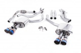 Catback výfuk Milltek Audi S5 B9 3.0 TFSI V6 Coupe/Cabrio bez sport. difer. (17-) - verze bez rezonátoru - koncovky titanové modré
