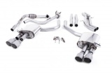Catback výfuk Milltek Audi S5 B9 3.0 TFSI V6 Coupe/Cabrio bez sport. difer. (17-) - verze bez rezonátoru - koncovky titanové
