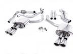 Catback výfuk Milltek Audi S5 B9 3.0 TFSI V6 Coupe/Cabrio bez sport. difer. (17-) - verze bez rezonátoru - koncovky leštěné Oval