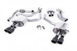 Catback výfuk Milltek Audi S5 B9 3.0 TFSI V6 Coupe/Cabrio bez sport. difer. (17-) - verze s rezonátorem - koncovky černé Oval (homologace)