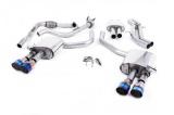Catback výfuk Milltek Audi S5 B9 3.0 TFSI V6 Coupe/Cabrio bez sport. difer. (17-) - verze s rezonátorem - koncovky titanové modré (homologace)