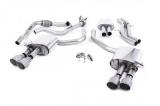Catback výfuk Milltek Audi S5 B9 3.0 TFSI V6 Coupe/Cabrio bez sport. difer. (17-) - verze s rezonátorem - koncovky titanové (homologace)
