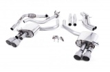 Catback výfuk Milltek Audi S5 B9 3.0 TFSI V6 Coupe sport. difer. (17-) - verze bez rezonátoru - koncovky titanové
