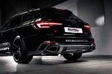 Catback výfuk Milltek Audi RS4 B9 2.9 V6 Turbo Avant (18-) - verze bez rezonátoru Road+ - koncovky černé