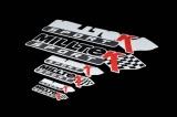 Klasická samolepa s logem Milltek Sport - černá 382x78mm
