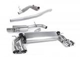 Turboback výfuk Milltek Audi S3 8V 2.0 TFSI Quattro 3-dv. (13-) - verze s rezonátorem - koncovky leštěné GT