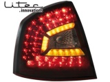 Zadní LED světla Škoda Octavia II 1Z červeno-kouřové Dectane