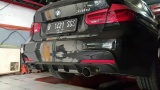 Catback výfuk Milltek BMW 3-Series F30 320i L M Sport LWB vč. LCI (12-) - koncovky titanové modré