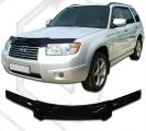 Plexi lišta přední kapoty Subaru Forester, r.v. 2005 - 2008
