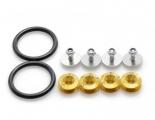 Rychlospojky / úchytky pro nárazník - zlaté