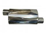 Koncový tlumič výfuku ProRacing MP12 - nerez - 76mm - offset/offset