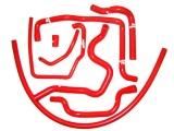 Silikonové hadice Roose Motosport Opel Calibra GSi 2.0 16V C20XE (89-97) - pomocné vedení SFI