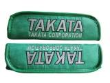 Návleky na bezpečnostní pásy s nápisem Takata