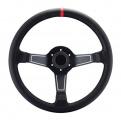Sportovní volant SW575 - 350mm kůže / 63mm - černý/černý