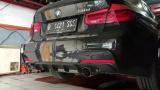 Catback výfuk Milltek BMW 3-Series F30 320i M Sport vč. LCI (12-) - verze bez rezonátoru - koncovky černé