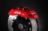 Přední brzdový kit D2 Racing pro Alfa Romeo 164 (87-98), 6-pístkové brzdiče, pevné kotouče 356x32mm