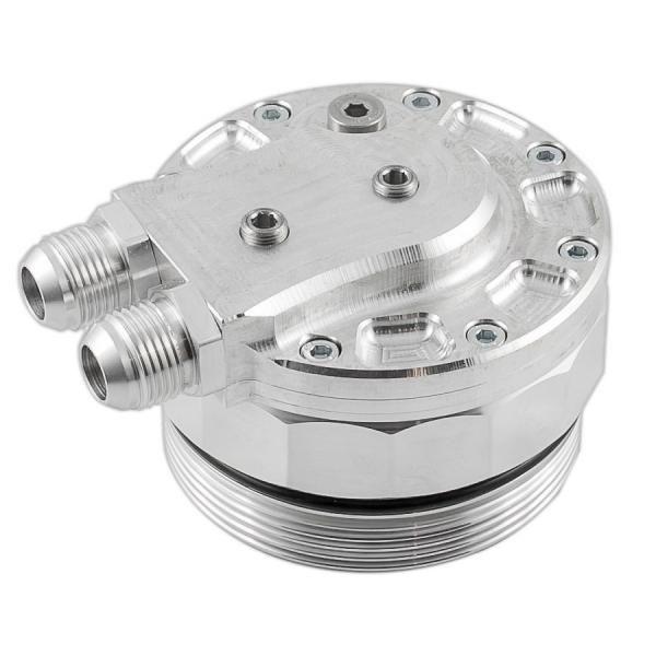 Adaptér pro montáž olejového chladiče na olejový výměník PMC BMW M52 / M54 / M56 - D-10 (AN10) + 3x výstup na senzory PMC Motorsport