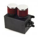 Oil catch tank - 2x vývod + 2x filtr - objem 1,1l