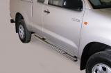 Nerez boční designové nášlapy TOYOTA Hi Lux extra cab 06/15
