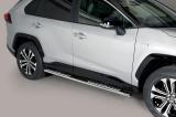 Nerez boční designové nášlapy TOYOTA RAV 4 Hybrid 19-