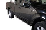 Nerez boční oválné nášlapy NISSAN Pick Up Navara King Cab 05-
