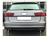 Nerez chrom dvojité koncovky výfuku Audi A6 C7 facelift