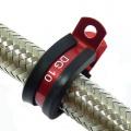 Svorka P Clip / držák hadice - 7,9mm - červená ProRacing