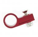 Celohliníková svorka P Clip / držák hadice - 9,5mm - červená