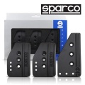 Pedály Sparco Settanta Black - hliníkové černé