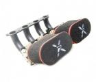 Dvojitý návlek na trumpety Pipercross - karburátor 40 DCOE / DHLA - 100mm (silniční)
