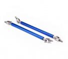 Univerzální nastavitelné vzpěry pro stabilizaci spoilerů a difuzorů - délka 150mm - modré