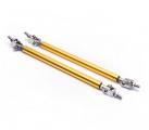 Univerzální nastavitelné vzpěry pro stabilizaci spoilerů a difuzorů - délka 150mm - zlaté