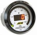 Digitální budík AEM tlak oleje 0-150psi